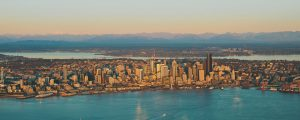 Seattle Skyline during Galvin Flying lesson