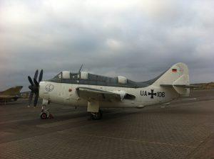 Fairey Gannet Aircraft on Runway