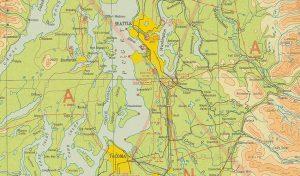 Flying Map over Seattle, Washington | Galvin Flying