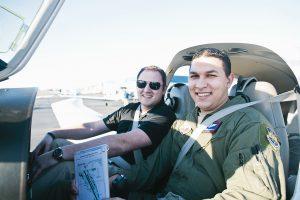 Galvin Flying Instructors Inside Aircraft