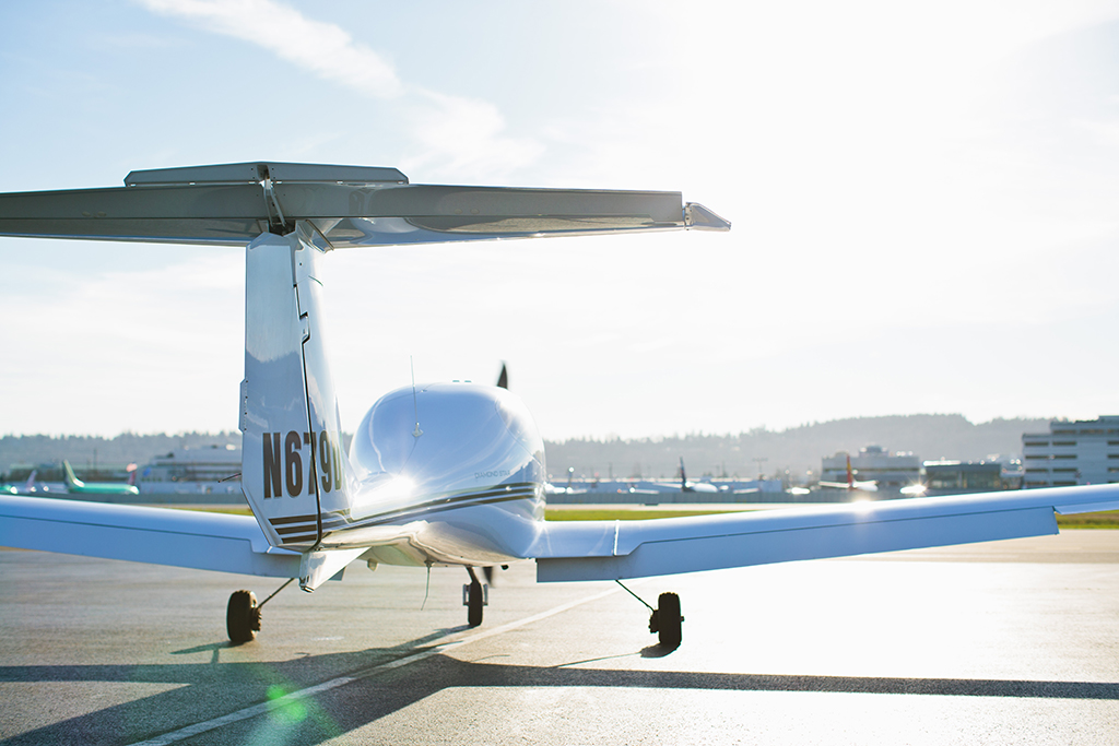 Backside of Beechcraft c35 Aircraft on Boeing Field