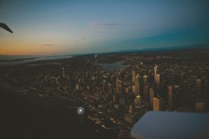 Scenic Downtown Seattle Skyline at Dusk