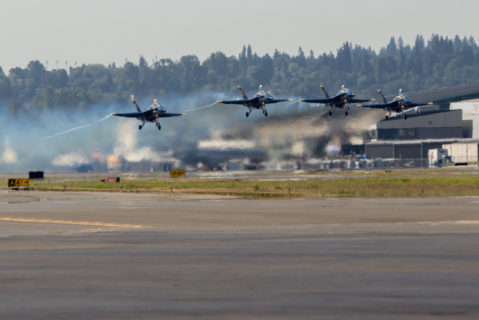 Blue Angels at Boeing Field