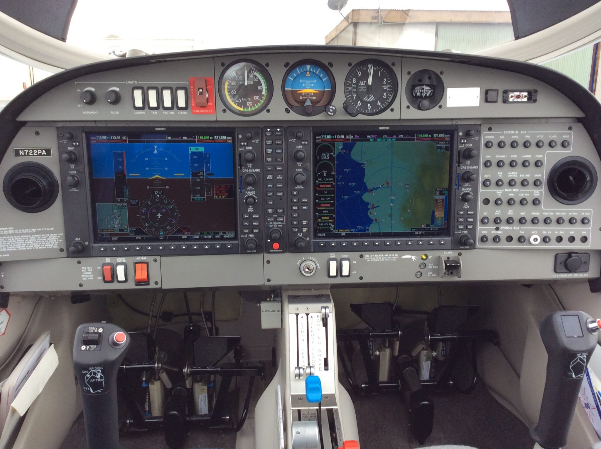 Inside Cockpit of Diamond Star DA40