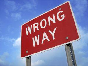 Wrong Way Sign