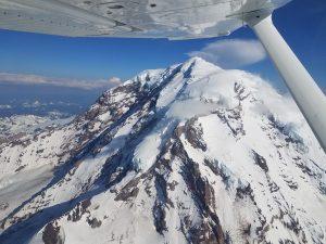 Mt. Rainier in the Cascade Mountain Range