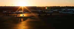 Galvin Flying's Aircraft Fleet at Sunset