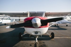 Upclose photo of Cessna 152 Aircraft and Propellers